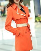 Wholesale women Fashion trench coat women long cardigan trench coat outwear genuine cfbu6