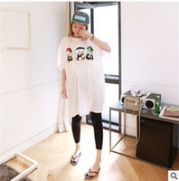 100% cotton shirt fabric - 16 years Amoi Korea door cotton fabric Tang Xiaoya printing dyeing and finishing process of the side vent loose yards long dresses T shirt