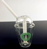 Concentré de plate-forme pétrolière Prix-bong dôme de verre pipe à eau Opaque vert concentré dab lumineux plate-forme pétrolière de verre Hookah Starbuck en verre tasse cigarettes électriques