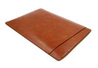 Wholesale two pockets pu leather laptop sleeve bag Apple laptop MacBook Air retina pro bag colors