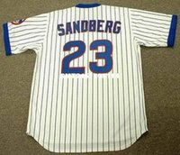 Wholesale RYNE SANDBERG Chicago Cubs Majestic Cooperstown Throwback Home Baseball Jersey