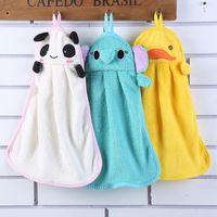 Cheap Cute Animal Microfiber Kids Children Cartoon Absorbent Hand Dry Towel Lovely Towel For Kitchen Bathroom Use WA0785