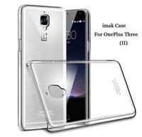 al por mayor oneplus phone-Hot original de la marca IMAK Clear Crystal shell 2 caso OnePlus para tres casos delgado cubierta de teléfono transparente para uno más 3 Case Cover