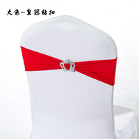 Wholesale 100pcs Chair band For Wedding Elastic Buckle Spandex Chair Bands lycra elastic chair sash chair band with Crown buckle can mix color