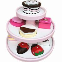 baby blocks cake - Baby Toys Simulation Three Tier Birthday Cake Wooden Toys Food Shape Pairing Blocks Education Pretend Play Infant Birthday Gift