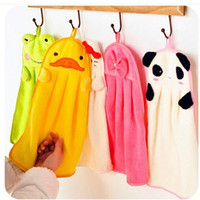 Wholesale Cute Animal Microfiber Kids Children Cartoon Absorbent Hand Dry Towel Lovely Towel For Kitchen Bathroom Use Hand towels