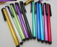 Wholesale Tablet Pen Capacitive Touch Pen For Samsung galaxy i9300 i9500 Iphone s Stylus Pen For Ipad Smart Cellphone Fast Ship