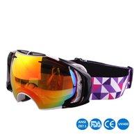 Wholesale New Ski Goggles Double Lens UV Anti fog Big Ski Mask Glasses Skiing Men Women Snow Snowboard Goggles