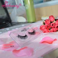 Wholesale New pair D mink eyelash lilibeauty real mink fur Handmade crossing lashes individual strip thick lash