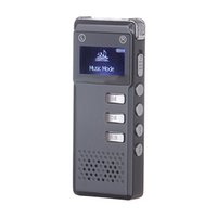 Wholesale GB SK818 Multifunctional Voice Recorder Portable Rechargeable Digital Audio Dictaphone MP3 Player Black