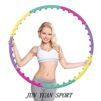 Wholesale High quality Removable Magnetic Massage Hula Hoop Fitness Lose Weight Hoop