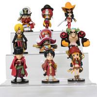 Wholesale 2016 New Anime One Piece Action Figure Figuarts Zoro Monkey D Luffy Thunsand Sunny Sanji Fighting One Piece Figure Ace Toys