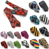 Wholesale New Fashion High Quality Korean Casual Men Women Narrow Tie Student Tie Print Business Ties