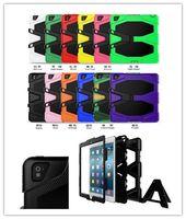 Cubierta impermeable resistente militar del caso del defensor del extremo militar para el iPad Mini Air Pro 2 4 Cubierta del sostenedor de la lengüeta de la galaxia de Samsung Casos híbridos a prueba de golpes