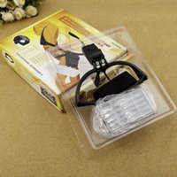 Al por mayor-ABS Headset lupa plástica 1,0X 1,5X 2,0X 2,5X 3,5X 5 lente ajustable lupa diadema lupa con LED Lupas W1