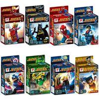 Wholesale Models Building Toy Blocks Marvel Avengers Super Hero Minifigures Building Blocks Sets figures Toys Bricks Superman Iron Man Hulk