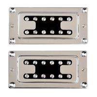 bass humbucker - Chrome Humbucker Bridge Neck Set Pickups for Rickenbacker Bass Guitar Parts C3