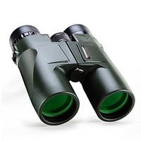 Hd militar Baratos-Verde militar USCAMEL HD 10x42 Prismáticos Profesional caza del telescopio del zumbido de la alta calidad de la visión infrarroja Sin Ejército Ocular