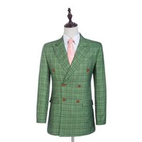 arrival check - New Arrival Groom Tuxedos Glen Plaid Groomsman Suit Double Breasted Man Clothes Man Suits Tweed Suits Jacket pants