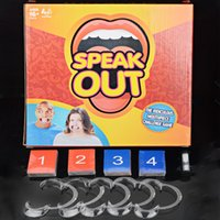 Wholesale Speak Out Game Board Card game Mouth Guard Party Games Braces toy games Spoof Funny Toys Christmas gift Zorn toys Hasbro In stock