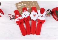 Wholesale 80PCS Fashion New Santa Claus Deer Beer Slap Circle Bracelet Christmas Xmas Gift Decoration Kids Bracelets