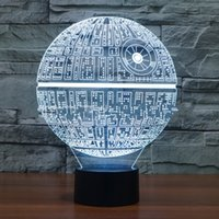 bank stars - Death Star Touch Control Night Colors Change USB LED Desk Table Light Lamp Power Bank Abajur Night Light
