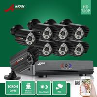 Bon Marché Matrice vidéo-ANRAN AHD 1080N 8CH DVR Vidéo HDMI en extérieur IR Array Système de surveillance de la caméra de sécurité à domicile