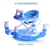 Wholesale Folding Baby Walker Height Adjustable Infant Walker High Quality Children Walkers With Music Box Rollover Multipurpose Folding Rocking Horse