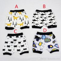 Wholesale 4 Design kids INS Batman pp pants DHL baby toddlers boy girl ins animal fox shark geometric figure pants shorts Leggings B