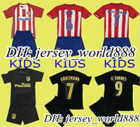 atletico madrid youth - 16 kids Atletico Madrid home soccer Jersey Kits GRIEZMANN F TORRES Atletico Madrid away childrens youth Football Shirt