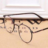 Wholesale LJJL214 Unisex Fashion Full Rim Metal Eyeglasses Frame Spectacle Plain Optical Glasses Fashion Vintage Women Round Glass Pieces