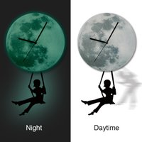 artistic wall clocks - Acrylic Clock Swing Design Mirror Effect Mural Wall Sticker Home Decor Artistic Modern Room Decor DIY
