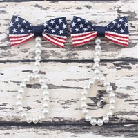 baby foot usa - Newborn Baby Girls Flower Sandals USA Star Flag Pearl Foot Band Toe Rings First Walker Barefoot Sandals th Of July Anklets Accesseries