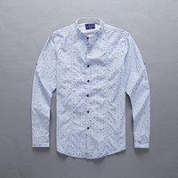 Wholesale discount newest hot mens males harmont blaine embroidery logo printed slim cotton long casual shirts colors