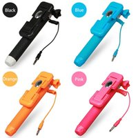 audio cable sizes - Super Mini Supreme Pen Size wired Selfie Stick Handheld Foldable Extendable Monopod with audio cable for Samsung S6 Edge for iphone