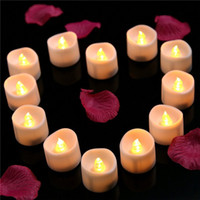 Wholesale Candle Light LED Lighted Flickering Votive Style Flameless Candles Wedding Decorations White Faux Candles Flameless Candle Set