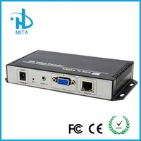 Wholesale TEST H H HD VGA Video Audio To IP Streaming Encoder Hardware With HTTP RTSP RTMP UDP ONVIF Protocol