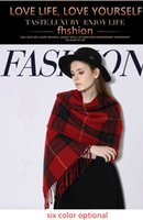 Wholesale 6 colors Women Winter Warm artificial fur scarf thickening plaid scarves using autumn winter