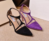 balls dress sandal - Office Lady Shoes Ankle Strap Pointed Toes CM Stiletto High Heels Summer Sandals Women Leather Dress Wedding Ball Party Pump Sz