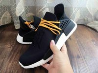 Wholesale Human Race Pharrell Williams X NMD Boost Trainning Shoes Outdoors Casual Man And Women Shoes Kanye West Shoes Black Color Eur36