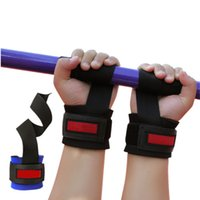 Wholesale 2 Weight Lifting Grip belt gym with non slip grip belt tension thickened wrist weightlifting dumbbell