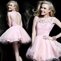 beautifull dress - New style Jewel Backless Hollow mini tull Sequins lace Exposed Boning beautifull ball gown Prom Dresses