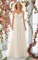 Wholesale Concise and elegant white wedding dress High Quality White or Ivory Wedding Dresses Lace up Back Bridal Gowns Women