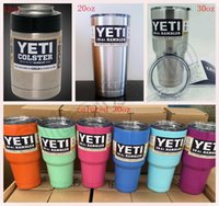 Wholesale YETI Rambler Tumbler oz oz oz colored Powder Coated Cooler Insulated Cup Stainless Steel Cup Mug OOA443