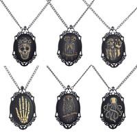 al por mayor marcos de fotos, con los precios-2016 colgantes steampunk de la vendimia del cráneo foto collares marco de bronce de cobre de la joyería del steampunk de precios mayor diseños mezclados