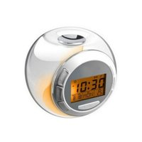 acoustic projection screen - Fashion Alarm Clock with Natural Sound Color Changing LED Light digital LCD Screen Children s Shower Thermometer Timer Music Alarm Clock