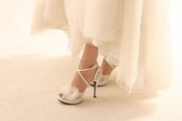 Wholesale Elegant Crystal Lace Wedding Shoes Bride Shoes Bridesmaid Shoes High Heels Ladies Party Shoes Handmade Banquet Shoes