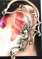 african fashion trends - European and American popular trend nightclub fashion angel girl alloy ear hook earring factory outlets y