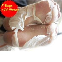 Wholesale Foot Dead Skin Cuticles Mask Removable Foot Peeling Renewal Mask Whitening Moisturizing Fibroin Gel Bags pieces