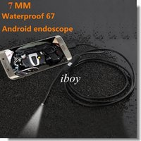 Wholesale New LED HD p mm mm lens Android endoscope M Micro USB waterproof endoscope Camera Snake Tube with retail box dropshipping